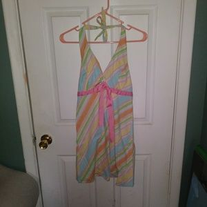 3 for $20 Candy Striped Halter Dress M